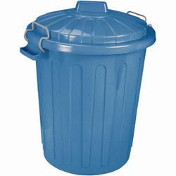 CURVER Charlie-Tonne Mülltonne, Mülltonne aus Kunststoff, Farbe: blau