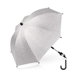 kueatily Sonnenschirm Universal Sonnenschirm Sonnenschutz für Kinderwagen und Buggy UV-Schutz 75 cm Sonnenschirm 360° verstellbar für Rund- oder Ovalrohrschirm Kinderwagen Flexibler Schirm grau