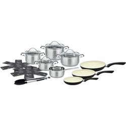 Elo - Meine Küche Topf-Set, Edelstahl 18/10, (Set, 15 tlg.), Induktion silberfarben Topf-Set Topfsets Töpfe Haushaltswaren