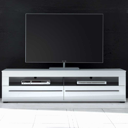 TV Lowboard in Hochglanz Weiß 180 cm