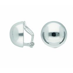 Adelia´s Paar Ohrclips 925 Silber Ohrringe / Ohrclips Ø 13,7 mm
