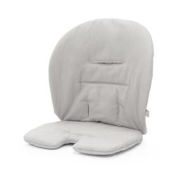 Stokke Hochstuhlauflage Steps™ Kissen, Stokke Steps Baby Set Kissen - Zubehör für Stokke Steps Stuhl - Hochstuhl-Kissen für Babysitz - Farbe: Timeless Grey grau