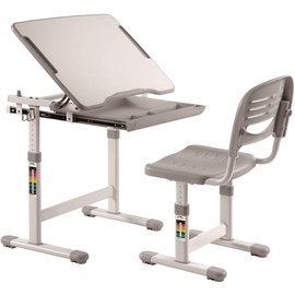 Vipack Kinderschreibtisch Comfortline (Set, mit Stuhl) weiß/grau