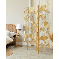 Schneider Paravent Paravent Golden Leaves, Art déco Design