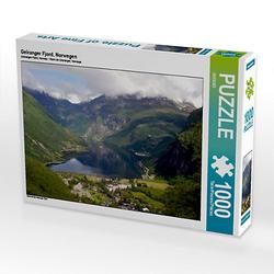 Geiranger Fjord, Norwegen Lege-Größe 64 x 48 cm Foto-Puzzle Bild von GUGIGEI Puzzle