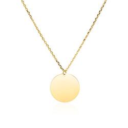 Gravierbare Halskette für Damen aus 9K Gold
