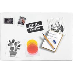 Befüllbare Schreibtischunterlage, transparent - transparent
