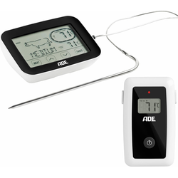 ADE Bratenthermometer BBQ1408, Grill-Thermometer mit Touch-Display