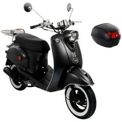 AGM MOTORS Motorroller GMX 460 Retro Classic NF Edition, 50 ccm, 45 km/h, Euro 4, inkl. Topcase grau