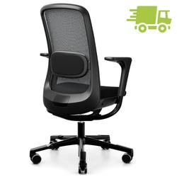 HAG SoFi Mesh 7500 Bürostuhl schwarz mit hoher 200er Gasfeder - Slideback Arm...