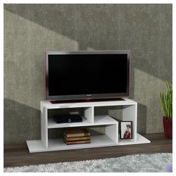 moebel17 TV-Regal TV Lowboard Fagus Weiß, Platzsparend
