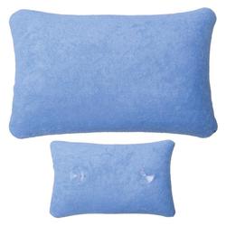 Bestlivings Reisekissen, Kissen für die Badewanne (28 x 20cm) - Nackenpolster, Nackenkissen für Badewannen blau