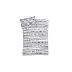 Julius Zoellner Jersey Bettwäsche in weiß mit Muster Indiana, 100 x 135 cm