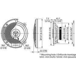 Kenwood Multiroom-Lautsprecher (Kenwood KFC-S1366 - 13cm 2-Wege Koax Lautsprecher)
