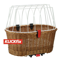 KlickFix Fahrradkorb Hundekorb für Racktime