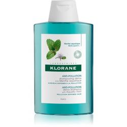 Klorane Aquatic Mint reinigendes Detox-Shampoo für Haare, die der Luftverschmutzung ausgesetzt sind 200 ml