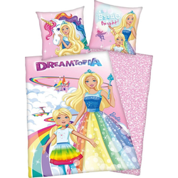 Kinderbettwäsche Barbie Dreamtopia, Mattel®, mit Barbie