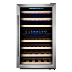 kalamera Weinkühlschrank KRC-45BSS, für 45 Standardflaschen á 0,75l,2 zonen
