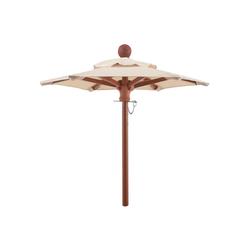 anndora-sonnenschirm Sonnenschirm anndora® Mini Tisch Sonnenschirm Deko Schirm 100 cm rund + Winddach Natural