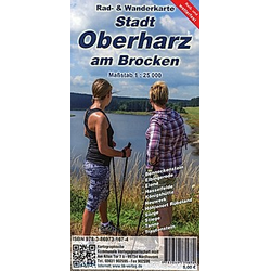 KKV Rad- und Wanderkarte Stadt Oberharz am Brocken - Buch