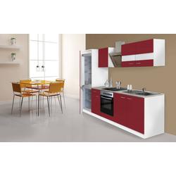 RESPEKTA Küchenzeile Ibiza, mit E-Geräten, 270 cm rot