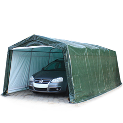 Toolport Zeltgarage 3,3x6,0m PE 260 g/m² dunkelgrün wasserdicht Garagenzelt