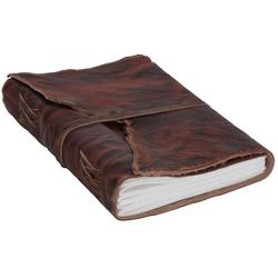 Gusti Leder Notizbuch Alice, Buch Notizblock Notizbuch DIN A5 Braun Leder