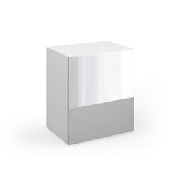 Vicco Schrank-Set Schrank Compo Aktenschrank Bücherregal Büroregal Standregal weiß hochglanz