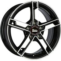 MAM W4 black front polish 7x17 ET48 - LK5/112 ML66.6 Alufelge schwarz