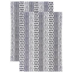 Lashuma Geschirrtuch Geometric, (Set, 2-tlg), Küchentücher Baumwolle, Geschirrhandtücher 48x68 cm