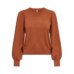 ONLY Puffärmel Sweatshirt Damen Rot Female M