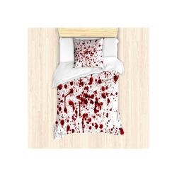 Bettwäsche Milbensicher Allergiker geeignet mit Kissenbezug, Abakuhaus, Blutig Blutspritzer Scary 135 cm x 200 cm