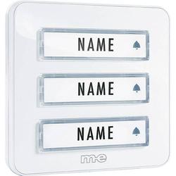 M-e modern-electronics KTA-3W Klingelplatte mit Namensschild 3fach Weiß 12 V/1A