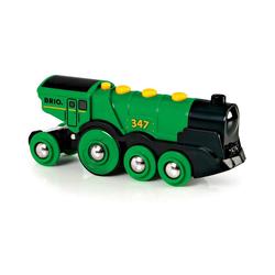 BRIO® Spielzeug-Eisenbahn Grüner Gustav (Batteriebetrieb)