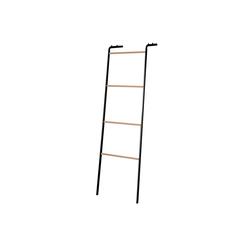 dynamic24 Handtuchleiter, Handtuchleiter Leiter Handtuchhalter Handtuchständer Leiterregal Garderobe Deo schwarz