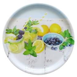 Lashuma Tablett, Melamin, (1-tlg), Geschirr Tablett 40 cm, Serviertablett groß