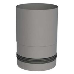 Ø 100 mm Pelletofenrohr Ofenanschlussstück mit Einzug Grau