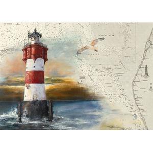 Thomas Kubitz Fine Art Tischset Leuchtturm Roter Sand