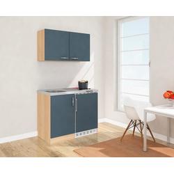 RESPEKTA Küchenzeile, mit Glaskeramikkochfeld und Kühlschrank, Breite 100 cm grau