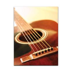 Bilderdepot24 Leinwandbild, Leinwandbild - Gitarre 90 cm x 120 cm
