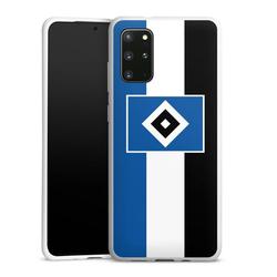 DeinDesign Handyhülle HSV Streifen - Blau-Weiß-Schwarz Samsung Galaxy S20 Plus, Hülle HSV Streifen Hamburger SV weiß