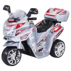 Actionbikes Motors Elektro-Kinderdreirad Kinder Elektroauto C051, Belastbarkeit 25 kg, Elektro Motorrad / Auto / Dreirad bis zu 3km/h silberfarben