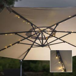 HI Solar-LED-Lichterkette für Sonnenschirme 130 cm