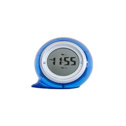 Fackelmann Wasser Uhr blau mit Weckfunktion