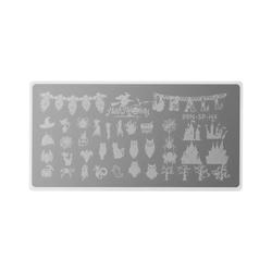 Stamping Plate Special - Happy Halloween - Nagel Stempel Schablone Stamping Schablone Nageldesign