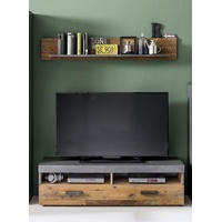 trendteam Indy TV-Lowboard 140 cm graphit/Matera Oldwood-Optik