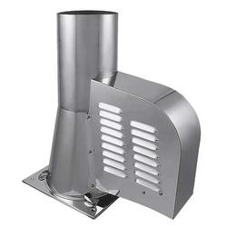 Rauchsauger mit Bodenplatte Edelstahl Ø 150 mm