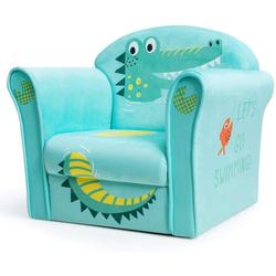 COSTWAY Sessel Kindermöbel Schaumstoff grün