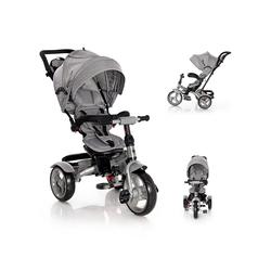 Lorelli Dreirad Tricycle Neo 4 in 1, EVA-Reifen, Schiebestange, Sitz drehbar, verstellbar grau