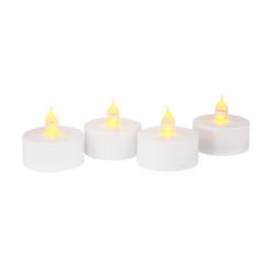 VBS LED Dekolicht Teelichter LED Teelichte mit Timer, 4 Stück weiß